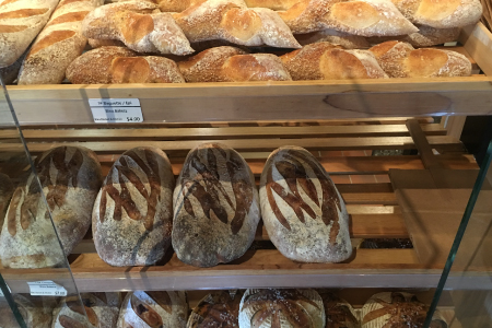 Daily fresh baked bread at Bleu Market & Kitchen