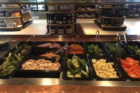 Bleu Market & Kitchen salad bar and carving station