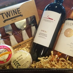 Bleu Market & Kitchen wine gift basket (sampler)
